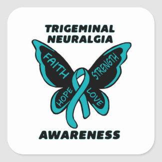 Butterfly/Awareness...TN Square Sticker