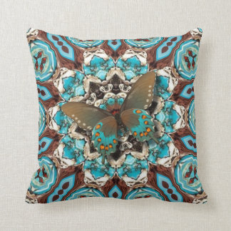 Butterfly Away To Santa Fe. Throw Pillow