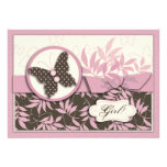 Butterfly Baby Invitation Card