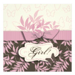 Butterfly Baby Invitation Square