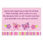 Butterfly Baby Shower Book Request Cards Pack Of Chubby Business Cards