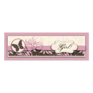 Butterfly Baby Skinny Gift Tag Pack Of Skinny Business Cards