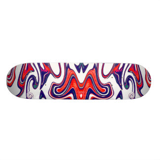 Butterfly Bat in red, white and blue on Skateboard