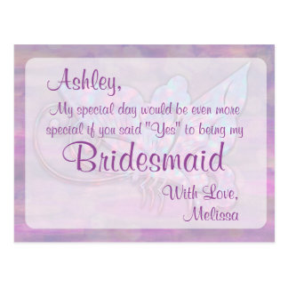 Butterfly - Be My Bridesmaid? Postcard