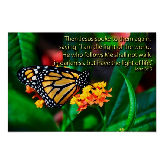 Butterfly Bible Quotes Inspirational Sayings Poster Zazzlecouk