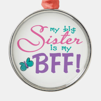 Butterfly Big Sister BFF Christmas Ornament