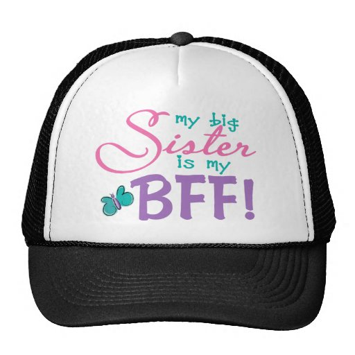 Butterfly Big Sister BFF Mesh Hats