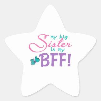 Butterfly Big Sister BFF Star Sticker