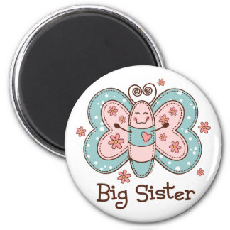 Butterfly Big Sister Refrigerator Magnets