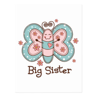 Butterfly Big Sister Postcard