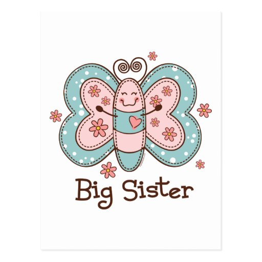 Butterfly Big Sister Postcards