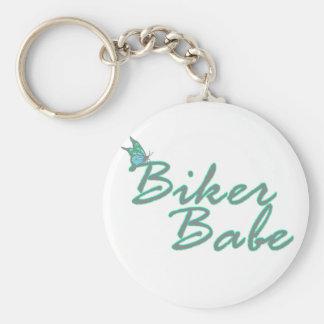 Butterfly Biker Babe Keychain