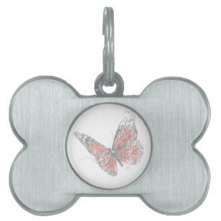 Butterfly (Biro) Pet Name Tag