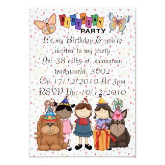 Butterfly Birthday 13 Cm X 18 Cm Invitation Card