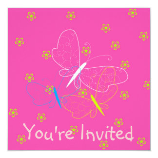 Butterfly Birthday Girl Invitation