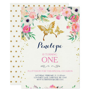 Butterfly Butterflies Garden Party Invitations Stationery