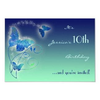 Butterfly Birthday RSVP Card 9 Cm X 13 Cm Invitation Card