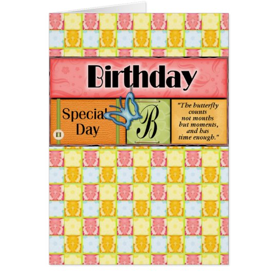 Butterfly Birthday Wishes Greeting Card