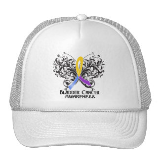 Butterfly Bladder Cancer Awareness Trucker Hat