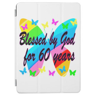 BUTTERFLY BLESSED BY GOD 60TH BIRTHDAY DESIGN iPad AIR COVER