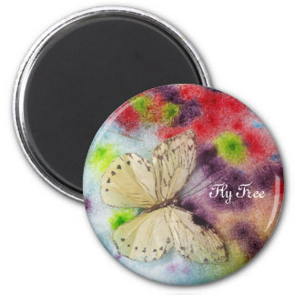 Butterfly Blessings 6 Cm Round Magnet