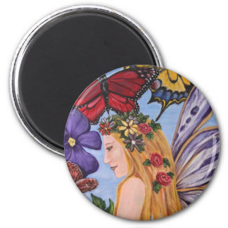 Butterfly Bliss 6 Cm Round Magnet