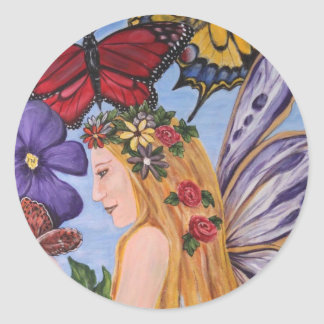 Butterfly Bliss Classic Round Sticker