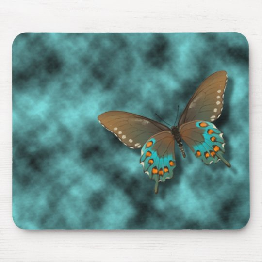 Butterfly: Blue and Brown Swallowtail Mouse Mat