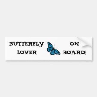 BUTTERFLY BLUE ~ BUMPER STICKER
