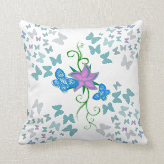 Butterfly Blue Cushion