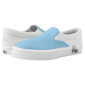 Butterfly Blue Custom slip on Printed Shoes