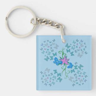 Butterfly Blue Key Ring