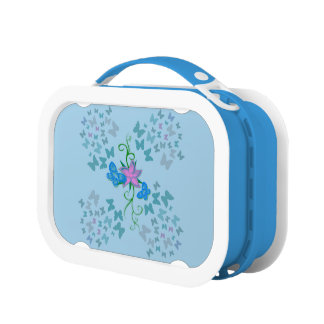 Butterfly Blue Lunch Box