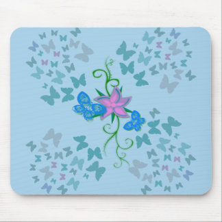 Butterfly Blue Mouse Mat