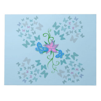Butterfly Blue Notepad