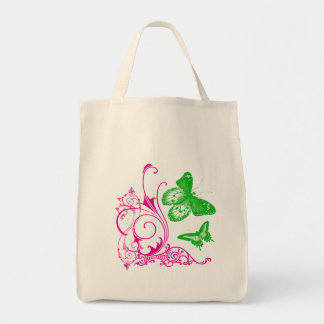 Butterfly Blue Organic Tote Bag