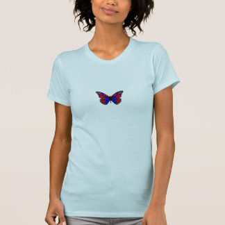 Butterfly Blue Red Tees