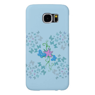 Butterfly Blue Samsung Galaxy S6 Cases