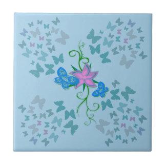 Butterfly Blue Tile