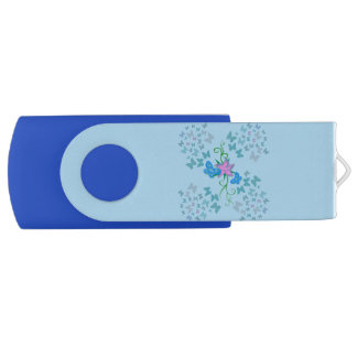 Butterfly Blue USB Flash Drive