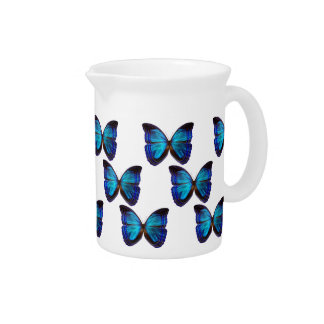 Butterfly Blues Beverage Pitcher