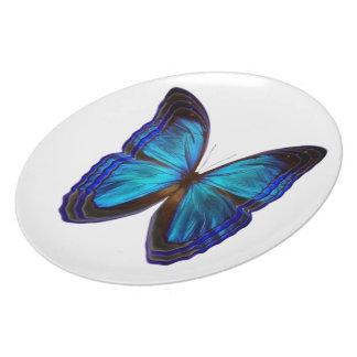 Butterfly Blues Dinner Plate