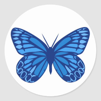 Butterfly Blues Round Sticker
