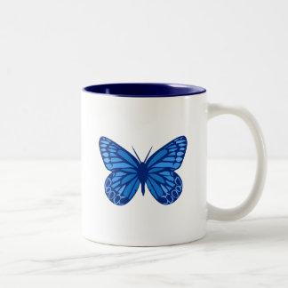 Butterfly Blues Two-Tone Coffee Mug