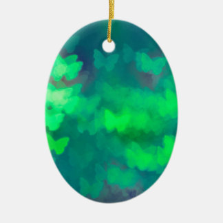 Butterfly bokeh christmas ornament