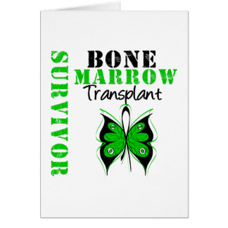 Butterfly Bone Marrow Transplant Survivor Greeting Cards