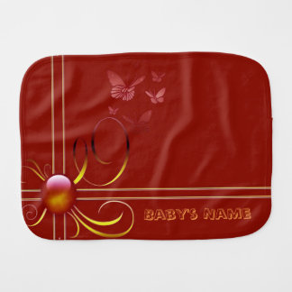Butterfly Bows 4 Burp Cloth