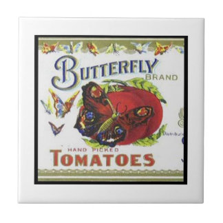 Butterfly Brand Tomatoes Small Square Tile