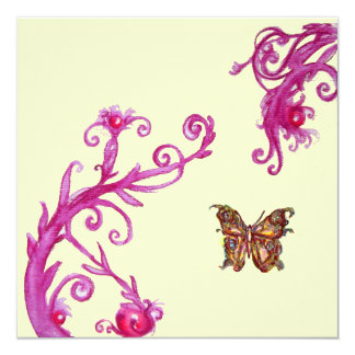 BUTTERFLY , bright pink white Custom Announcement
