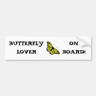 BUTTERFLY BRIGHT YELLOW ~ BUMPER STICKER